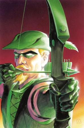 arrow bow comic dc gloves goatee green_arrow hat mast // 329x500 // 27.7KB