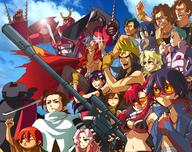 desktop group gurren_lagann kamina simon yoko // 1634x1296 // 1.6MB
