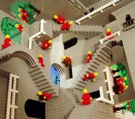 escher lego stairs // 1600x1405 // 399.5KB