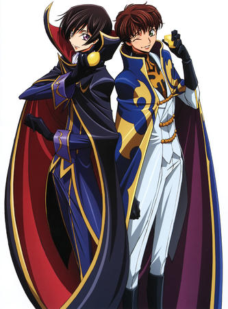 boots brunette cape code_geass gloves high_res lelouche lemon suzaku wink // 2331x3152 // 1010.1KB