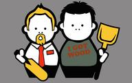 desktop goatee necktie shaun_of_the_desk shovel tee-shirt vector // 1920x1200 // 260.0KB