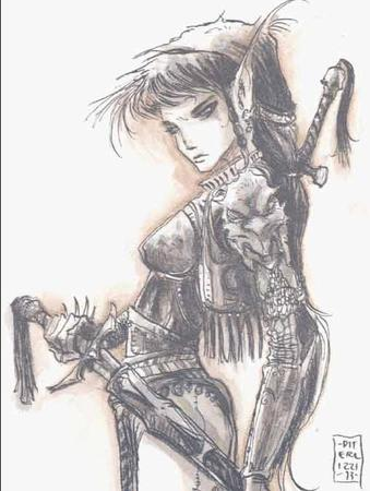brunette diterlizzi dnd long_hair planescape sword // 501x665 // 53.7KB