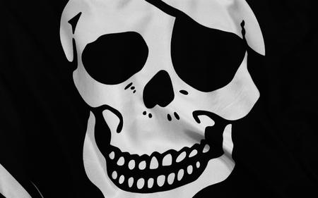 bw desktop eyepatch flag pirate skull // 1600x1000 // 516.2KB
