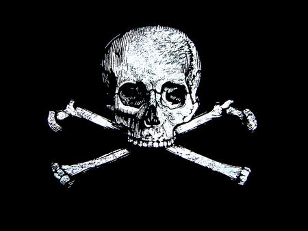 bw desktop flag pirate skull // 1600x1200 // 753.0KB