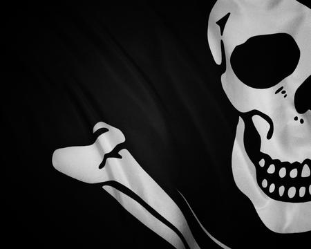 bw desktop flag pirate skull // 1280x1024 // 476.0KB