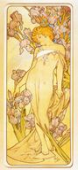 blonde flower mucha // 949x2050 // 273.1KB