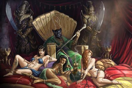 dnd harem high_res paizo pathfinder rakshasa sword throne // 1680x1133 // 199.7KB