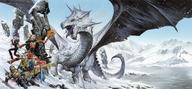 dnd dragon paizo pathfinder snow tail wings // 2580x1200 // 328.2KB