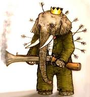arrows babar crown elephant rifle suit // 444x480 // 48.8KB