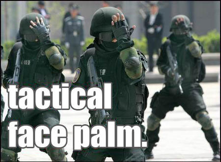 facepalm gloves goggles group gun helmet humor macro tactical // 480x352 // 38.4KB