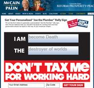 death mccain political republican screenshot sign taxes // 787x734 // 306.1KB
