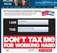 america mccain political republican restroom screenshot sign taxes // 786x734 // 290.2KB