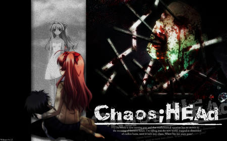 chaos_head composite jacket long_hair pink_hair redhead ribbons school_uniform skirt // 1280x800 // 642.9KB