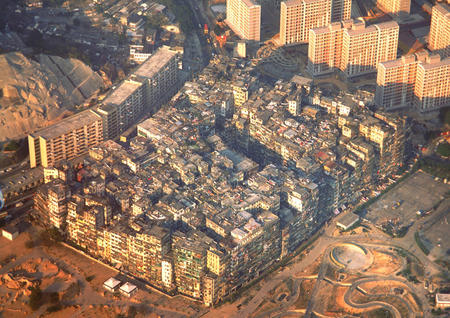 aerial city hive kowloon photo walled_city // 1024x723 // 297.9KB