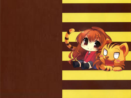 desktop jacket long_hair school_uniform skirt super_deformed taiga tiger toradora // 1600x1200 // 963.1KB