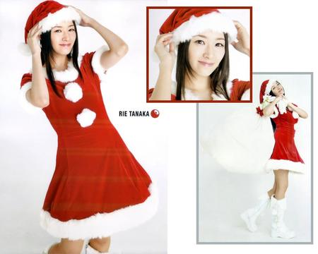 boots brown_eyes brunette christmas composite dress hat rie_tanaka santa // 1280x1024 // 153.8KB