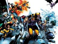 bishop cable cannonball claws collosus cyclops group gun iceman mystique rogue wolverine x-men // 1297x1000 // 1.3MB