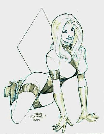 blonde boots bw diamond gloves high_heels sketch terry_dodson // 432x556 // 55.2KB