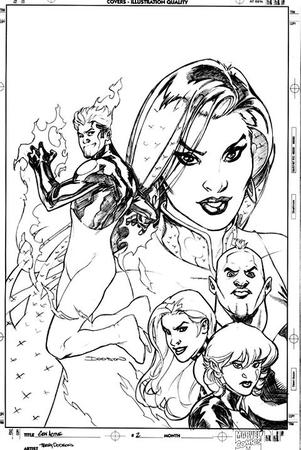 bw composite cover fire gen_active group marvel sketch terry_dodson // 480x717 // 81.4KB