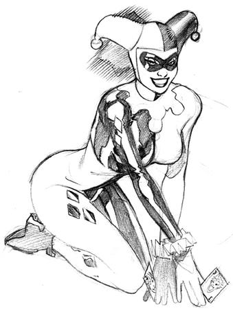 bw dc gloves harley_quinn mask sketch terry_dodson // 429x570 // 75.8KB