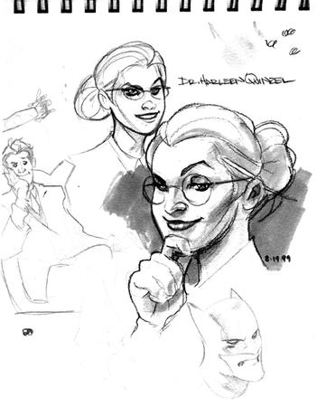 bw dc glasses harley_quinn sketch terry_dodson // 477x611 // 89.4KB