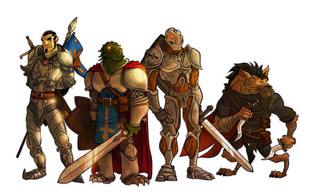 armor cape dagger dnd dragonborn gnoll greaves pauldrons penny_arcade shield sword warforged // 1000x630 // 157.7KB