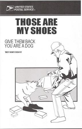 bw dog humor shoes usps // 500x786 // 294.7KB