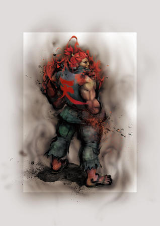 akuma gi high_res redhead sandals sfiv street_fighter // 4096x5793 // 4.8MB