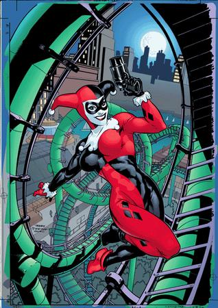 blue_eyes dc gloves gun harley_quinn mask terry_dodson // 432x612 // 102.2KB