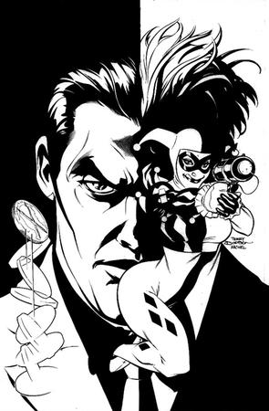 bw coin dc gloves gun harley_quinn mask terry_dodson two-face // 469x716 // 85.9KB