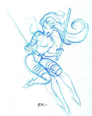 bruce_timm gloves marvel psylocke sketch sword thighhighs x-men // 472x596 // 74.3KB