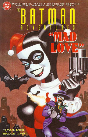 batman blue_eyes bruce_timm cover dc gun harley_quinn joker mask tommy_gun tuxedo // 389x606 // 120.3KB