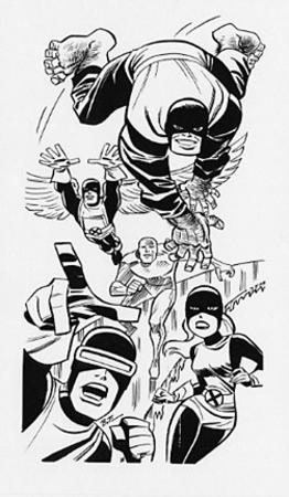 angel barefoot beast bruce_timm bw cyclops iceman marvel marvel_girl wings x-men // 251x431 // 42.7KB