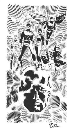angel barefoot beast boots bruce_timm bw cyclops gloves group iceman marvel marvel_girl professor_x wings x-men // 438x794 // 264.2KB