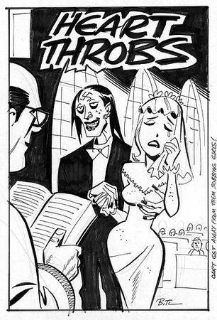 bride bruce_timm bw cover gown sketch tuxedo veil zombie // 374x550 // 92.4KB