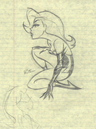 boots bruce_timm bw dc gloves poison_ivy sketch // 520x698 // 86.7KB