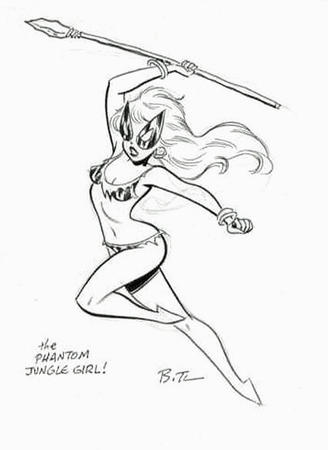 barbarian barefoot bikini bruce_timm bw jungle_girl mask ripped_clothes spear // 426x585 // 33.3KB