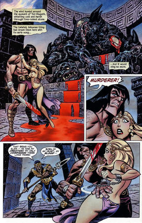 barbarian blonde bruce_timm brunette comic conan sword topless // 1024x1599 // 501.5KB