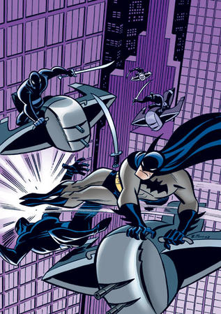 batman boots bruce_timm cape dc gloves kick ninja sword // 400x568 // 93.3KB