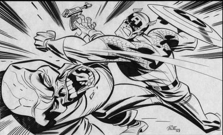 bruce_timm bw captain_america gun red_skull shield // 700x425 // 73.2KB