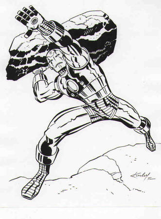 bruce_timm bw iron_man marvel // 609x828 // 45.2KB