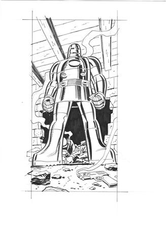 bruce_timm bw gun iron_man marvel rubble // 850x1169 // 104.0KB