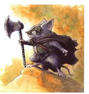 axe barefoot cloak helmet mouse mouse_guard tail // 1460x1550 // 876.5KB