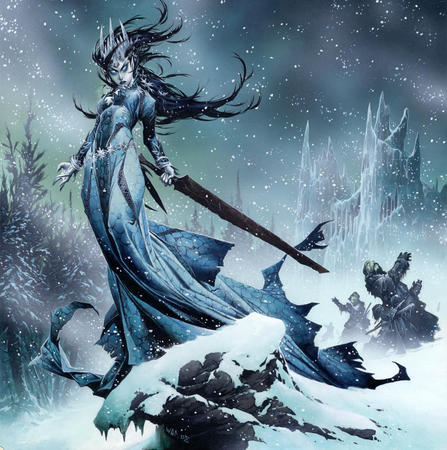 brunette crown dnd dress snow sword wayne_reynolds // 1070x1077 // 645.4KB