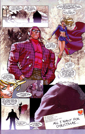 blonde boots cape christmas comic dc glasses skirt snow supergirl superman // 1024x1600 // 780.4KB