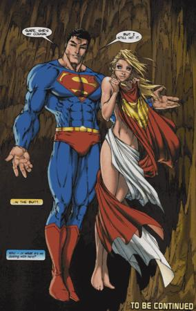 animated barefoot blonde blue_eyes boots cape dc humor supergirl // 468x742 // 2.3MB