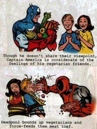 captain_america deadpool humor marvel vegetarian // 466x619 // 291.8KB