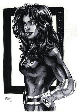 brunette bw jumpsuit monet sketch terry_dodson x-men // 375x546 // 81.5KB