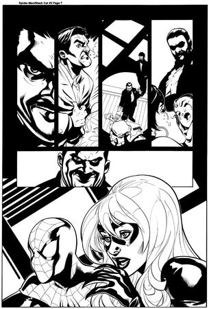 black_cat bw comic gun marvel mask spider-man terry_dodson // 788x1164 // 162.5KB