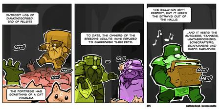cat comic dwarf dwarf_fortress humor // 760x378 // 59.5KB